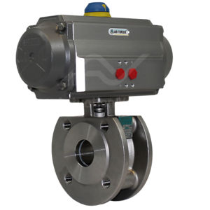 Wafer PN40 Stainless Steel Air Actuated Water Actuated Ball Valve SIL